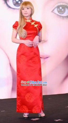 Chinese Classical Red Wedding Qipao