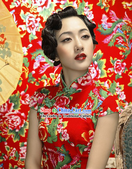 Chinese As You Wish Lucky Wedding Cheongsam Qipao