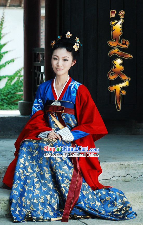 Tang Dynasty Gu Zhuang Princess Female Clothing Complete Set