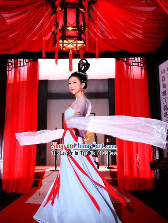 Ancient Chinese Tang Palace Female Dance Costumes