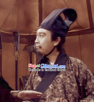 Ancient Chinese Han Minister Hat for Men