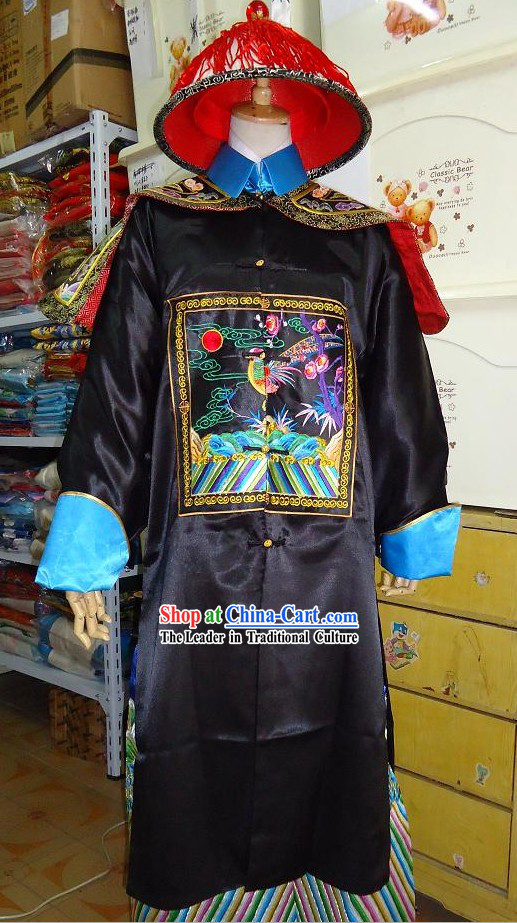Qing Dynasty Official Vestment Costumes and Hat