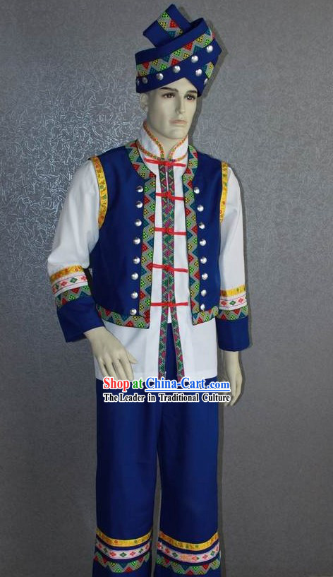 Chinese Ethnic Minority Dance Costume Complete Set