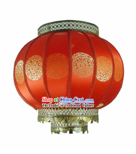 Traditional Chinese Spring Festival Red Lantern