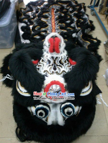 Top Competition and Parade Lion Dancing Head and Costume Complete Set