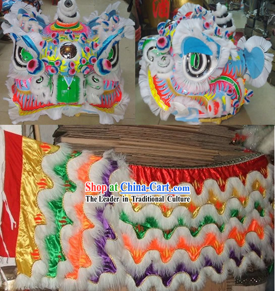 Ancient Chinese FUT SAN Style Lion Dance Costume Complete Set