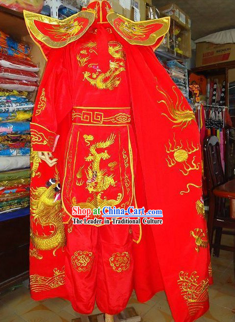 Sichuan Mask Changing Dragon Costumes Complete Set with Cape