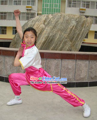Traditional Chinese Silk Wushu Suit for Students