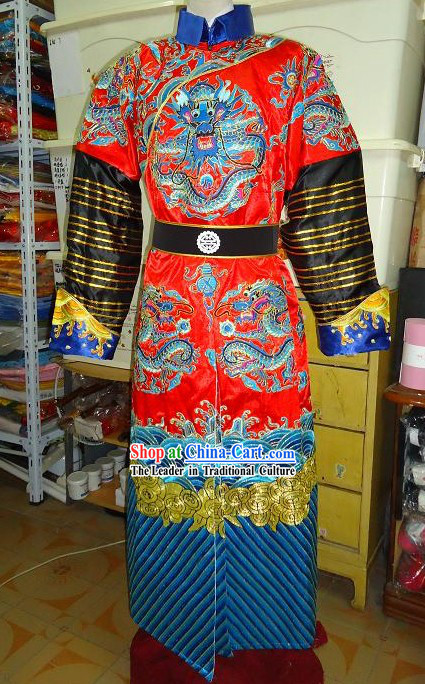 Ancient Chinese Palace Emperor Embroidered Dragon Costumes