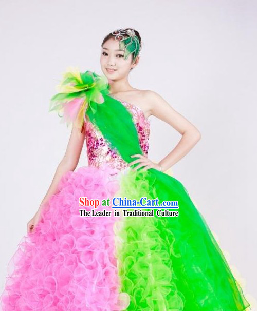 Chinese Stage Opening Dance Costumes for Women