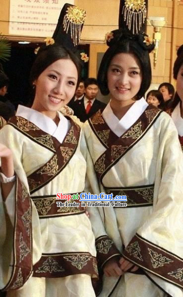 Ancient Chinese Palace Maid and Wig Complete Set