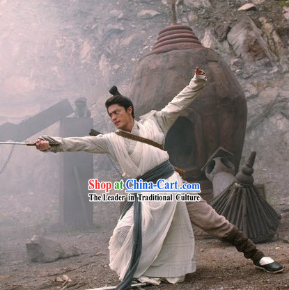 Ancient Chinese Swordsman Costume Complete Set
