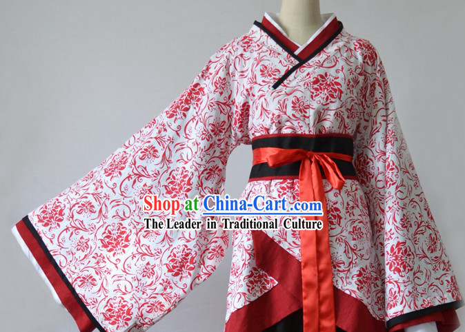 Ancient Chinese Hanfu Beauty Clothing Complete Set for Women