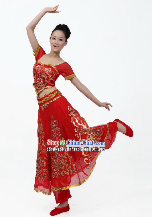 Traditional Chinese Minority Dance Costume for Women