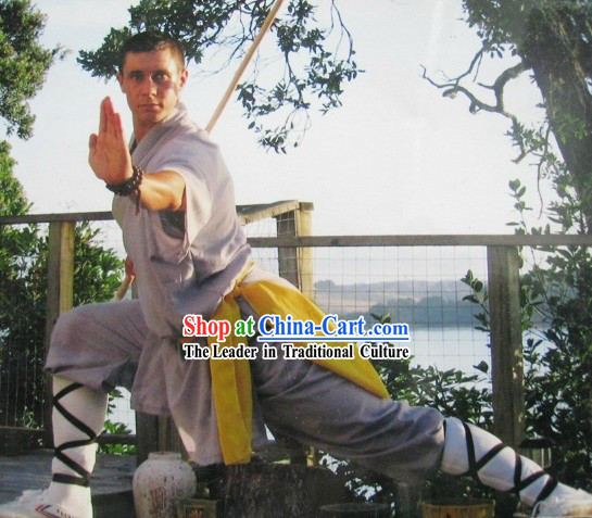 Traditional Chinese Shaolin Monk Suit for Men