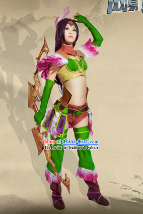 Ancient Chinese SD Swordswoman Costume Complete Set