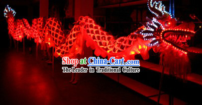 Happy Festival Celebration Electric LED Lights Dragon Dance Costumes Complete Set