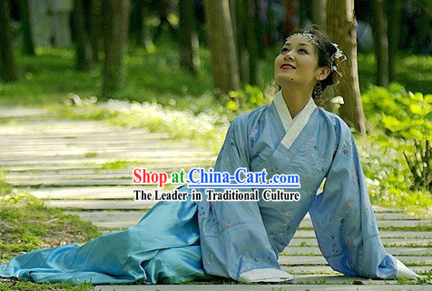 Ancient Chinese Female Civilian Dress Complete Set
