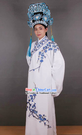Ancient Chinese Opera Style Xiao Sheng Young Men Costume and Hat for Men