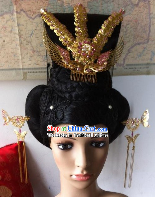 Tang Dynasty Empress Phoenix Accessories and Wig