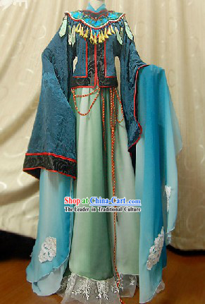 Long Sleeve Chinese Classical Actor Costumes Complete Set