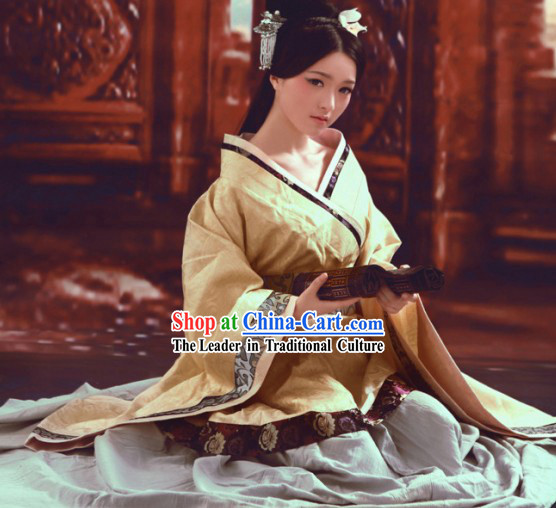 Ancient Han Dynasty Palace Maid Costumes for Women