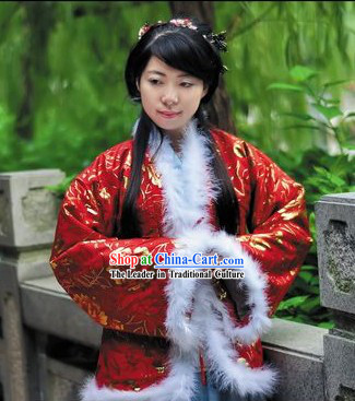 Ancient Chinese Red Cotton Jacket