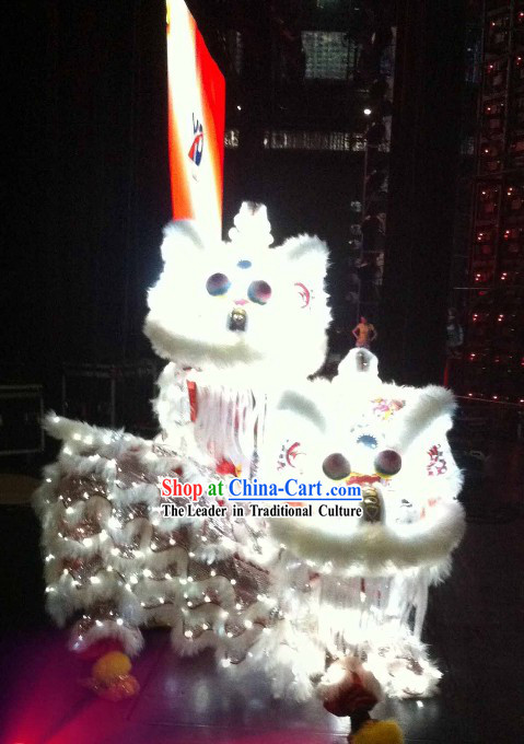 Electric Luminous LED Lights Supreme Lion Dance Costume Complete Set