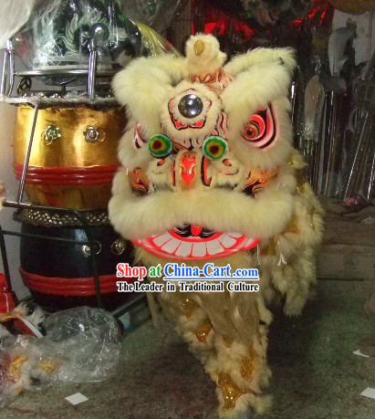 Business Opening Lion Head and Dance Costume Complete Set