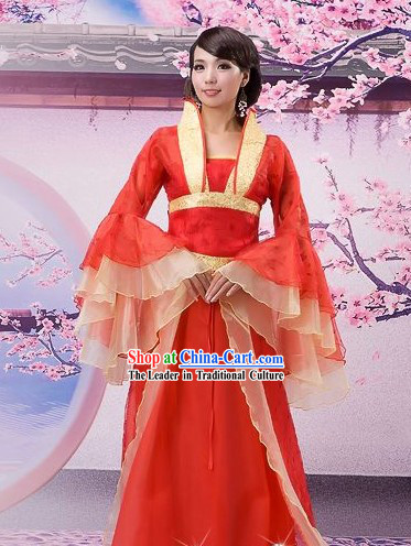 Ancient Chinese Wedding Hanfu Clothing for Women