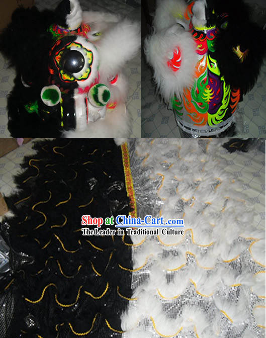 Unique Supreme Two Colors Lion Dance Costume Complete Set