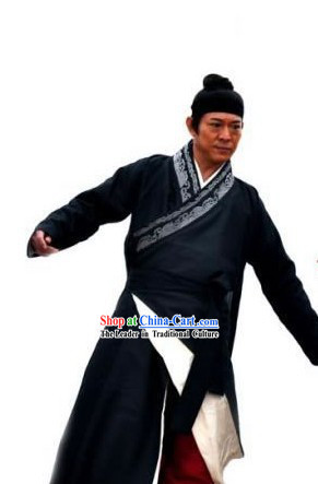 Ancient Chinese Swordsman Costumes and Headwear for Men