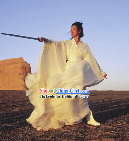 Ancient Kung Fu Master Knight Swordsman Costume for Both Men and Women