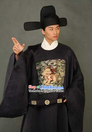 Ancient Chinese Government Official Costumes and Hat Complete Set