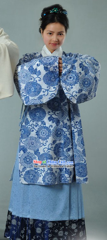 Ancient Chinese Style Female Clothing Complete Set for Women