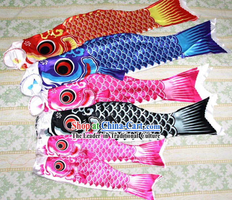 Japanese style carp streamers carp banners fish flag for Japanese fish flag