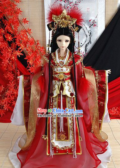 Ancient Chinese Imperial Empress Costumes, Wig and Hair Accessories Complete Set