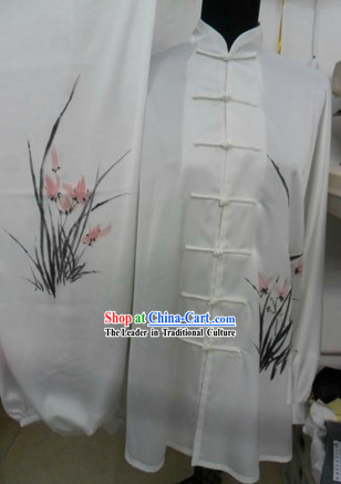 White Orchid Kung Fu and Tai Chi Silk Uniform for Women