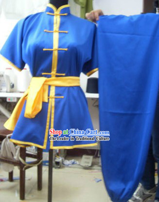 Blue Mandarin Kung Fu Tournament Competition Uniforms for Women