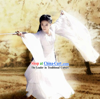 Chinese Classical Xiao Long Nv Costumes Complete Set in Return of the Condor Heroes