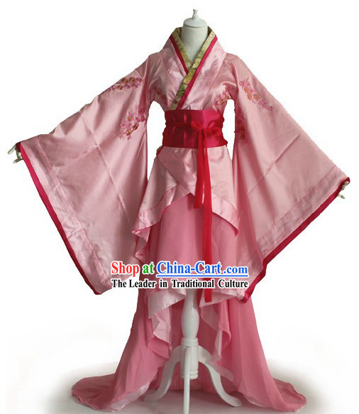 Han Dynasty Plum Blossom Pink Hanfu Clothes for Women