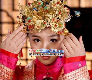 Ancient Chinese Wedding Phoenix Coronet for Brides