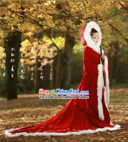 Ancient Chinese Costume Han Dynasty Period Wang Zhaojun Shawl Costumes for Women