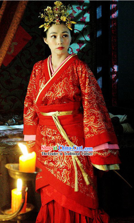Ancient Chinese Wedding Dress Complete Set for Women