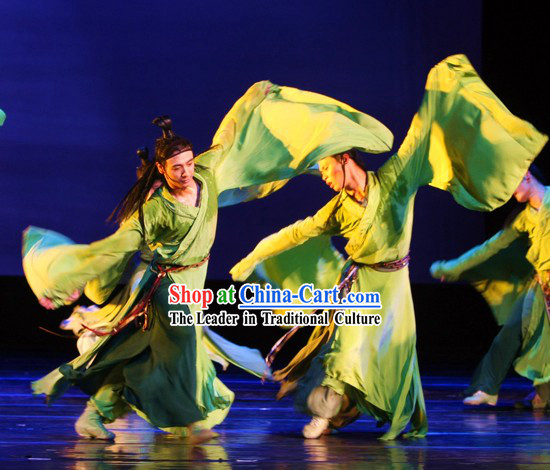 Green Classical Dancing Costumes for Men