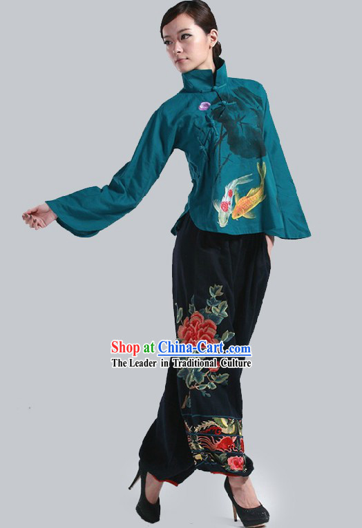Chinese Classic Dancing Lotus Costumes for Women