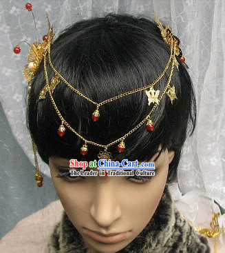 Traditional Chinese Handmade Butterfly and Flower Hair Accessories for Women