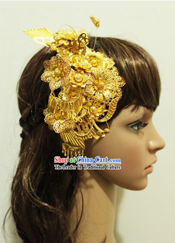 Chinese Classical Handmade Wedding Phoenix Hairpin for Brides