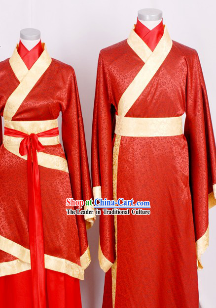 ancient chinese wedding dress two sets for men and women