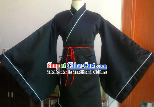 Ancient Chinese Black Dress Complete Set for Men